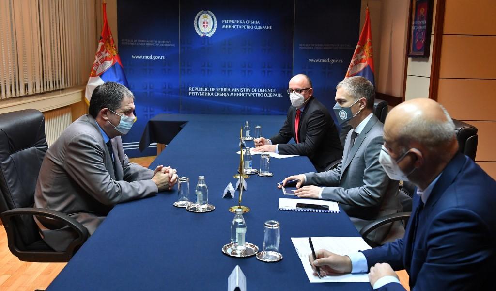 Састанак министра Стефановића са амбасадором Израела Виланом