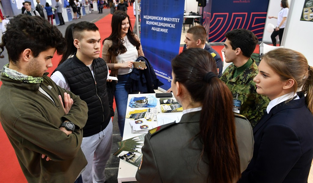 University of Defense at the Fair of Education in Novi Sad