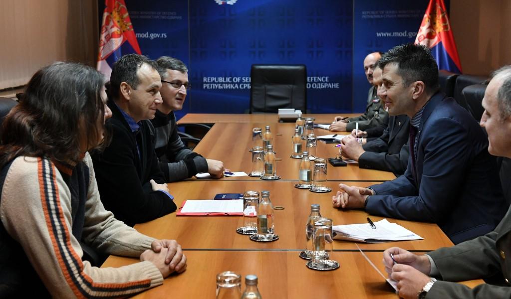 Mинистар Зоран Ђорђевић са представницима АСНС Синдикат Војске Србије