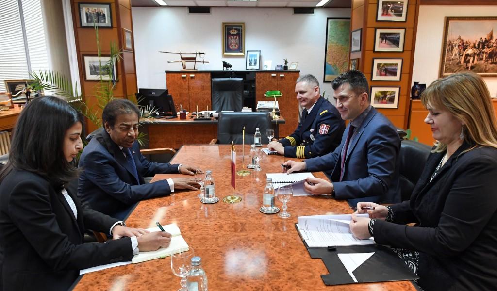 Састанак министра одбране са амбасадором Катара