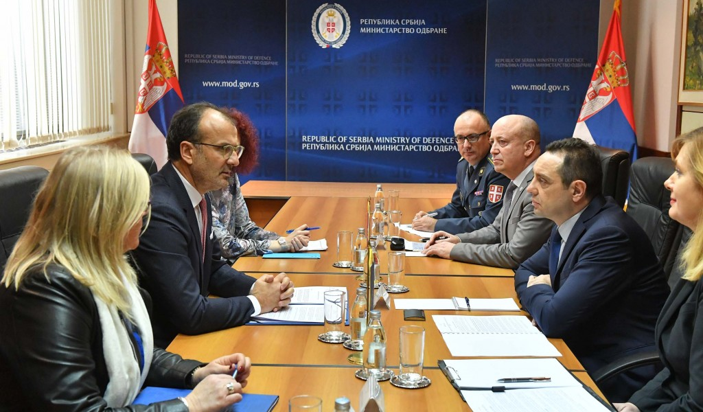 Sastanak ministra odbrane i šefa Delegacije Evropske unije