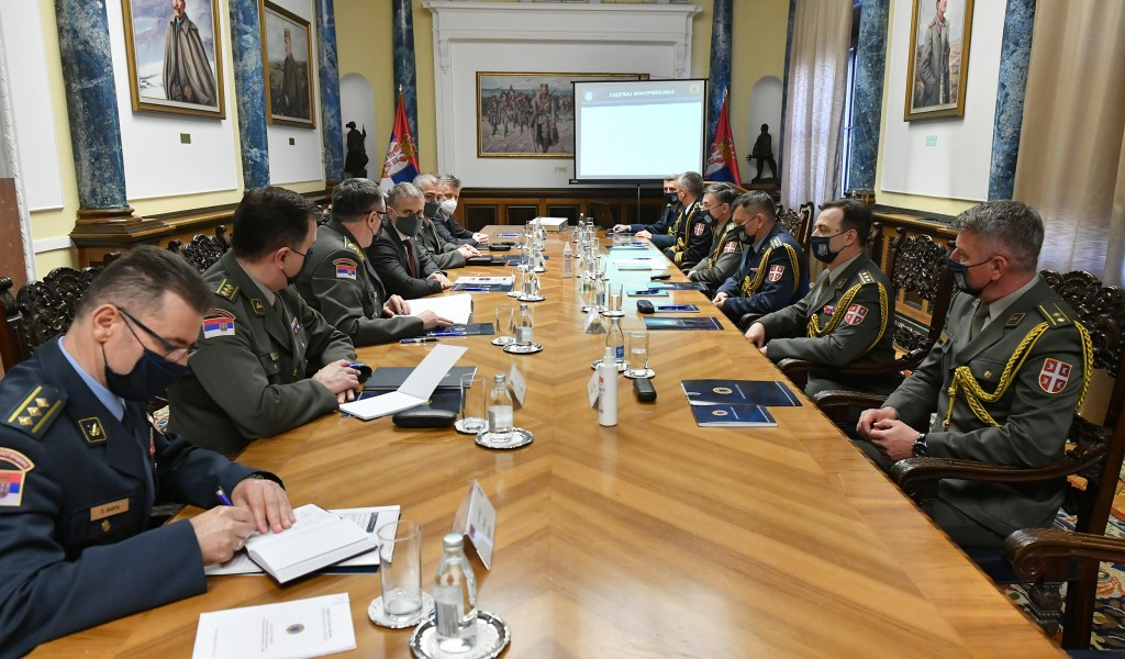 Minister of Defence meets with Serbia s Defence Attachés