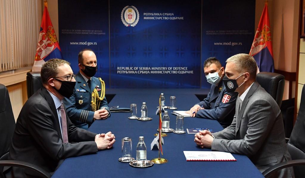 Састанак министра Стефановића са новоименованим амбасадором Канаде Норманом