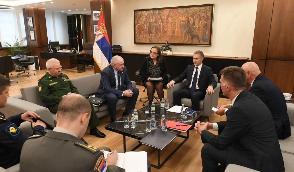 Састанак министра Стефановића са генералом Греховим