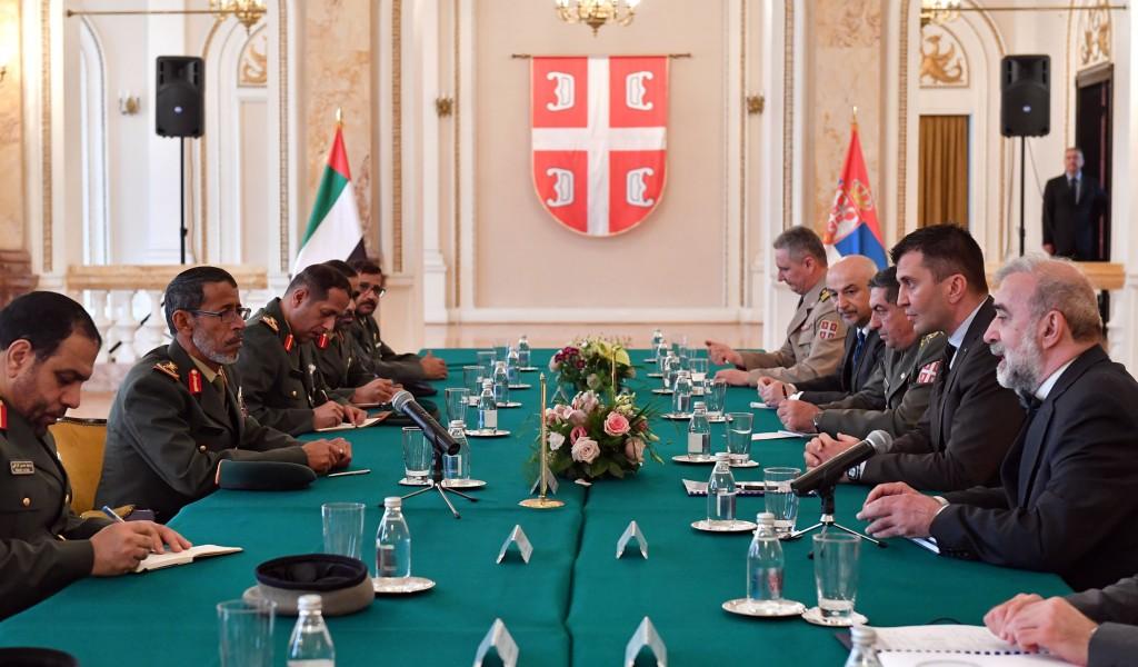 Састанак министрa Ђорђевића са начелником Генералштаба УАЕ