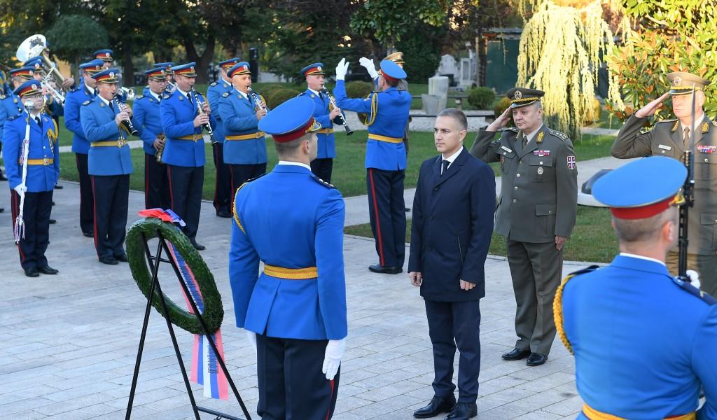 Министар Стефановић положио венац поводом Дана ослобођења Београда