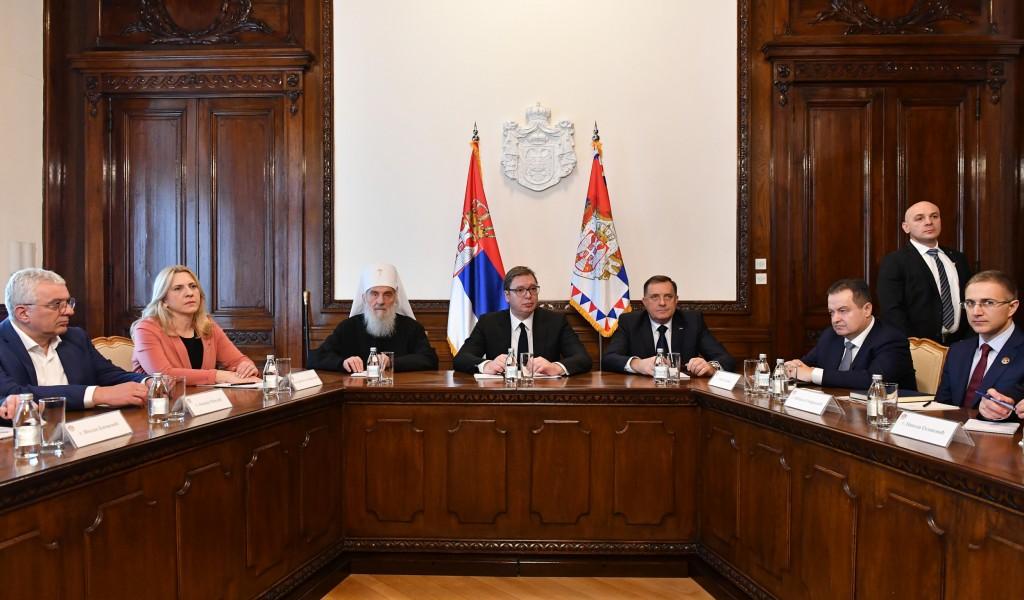 Председник Вучић Подршка српском народу је подршка за очување мира