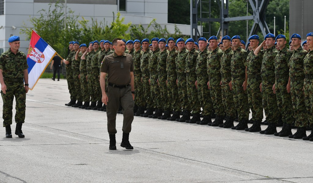 The send off ceremony for the members of the Guard who will participate in Victory Parade in Moscow
