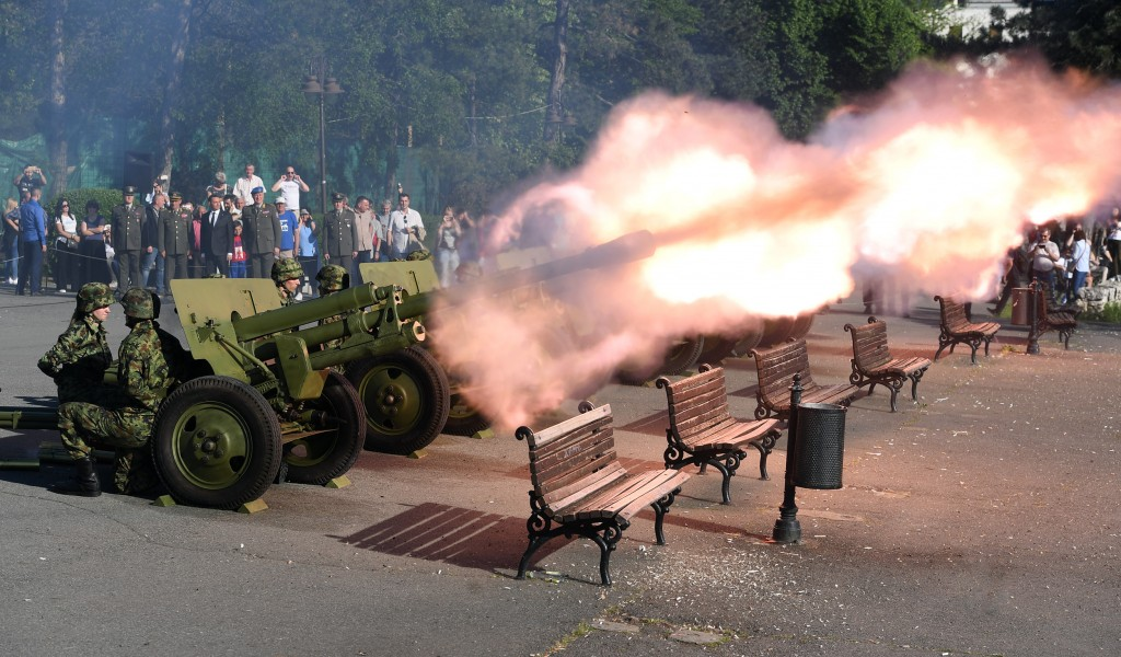 Salvo and Guards Drill on the Serbian Armed Forces Day