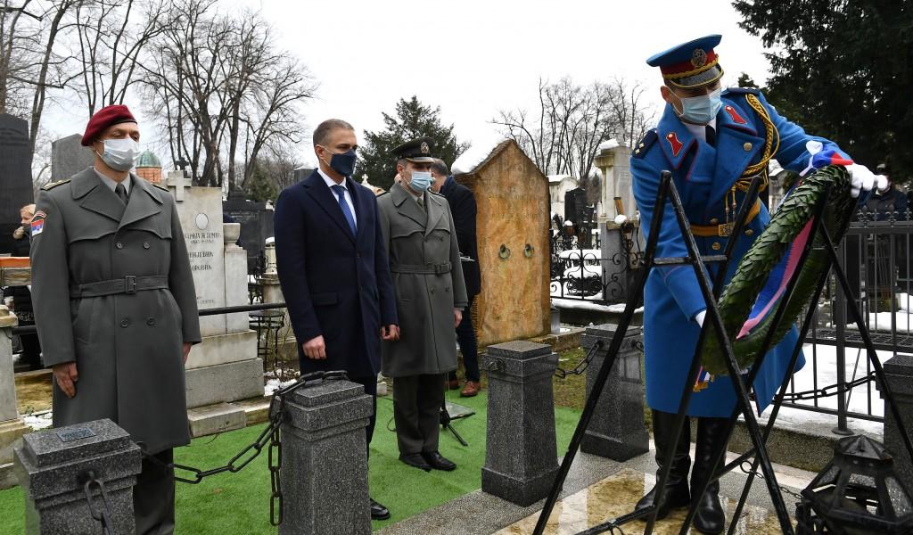 Minister Stefanović lays wreath to mark centenary of death of Field Marshal Živojin Mišić