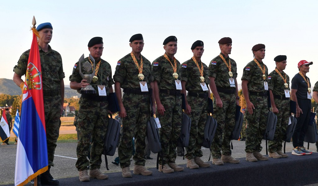 Serbian military team triumphs at Guardian of Order contest