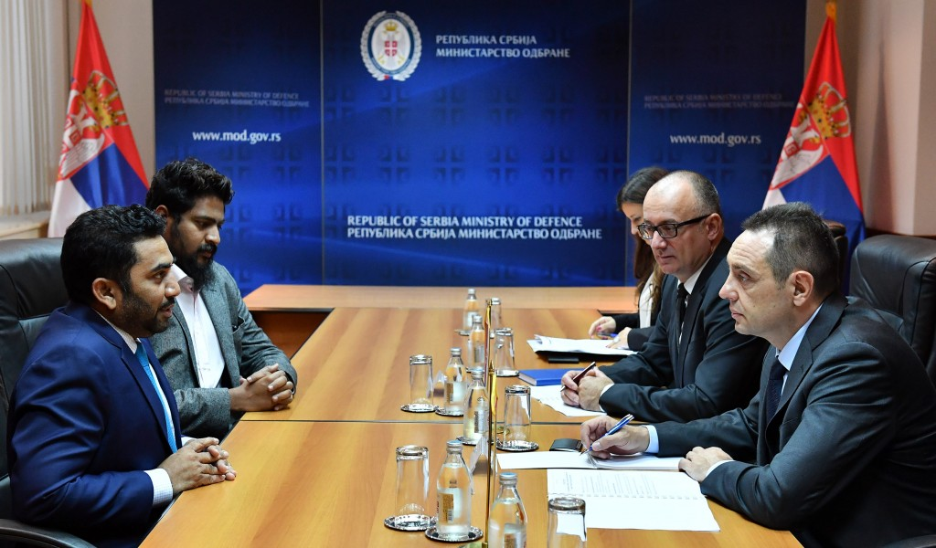 Састанак министра одбране и министра здравља Републике Малдиви