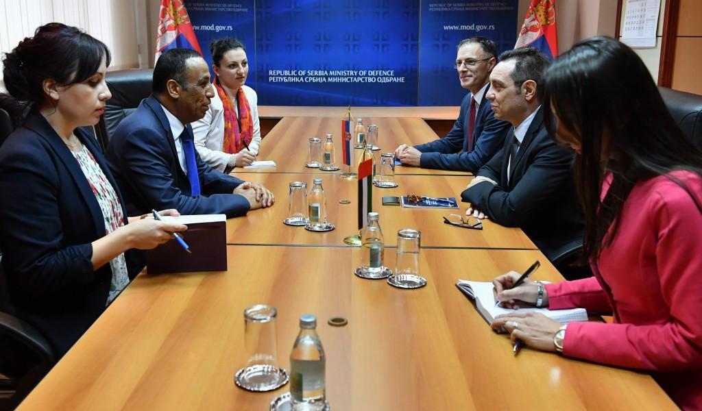 Састанак министра одбране са амбасадором УАЕ