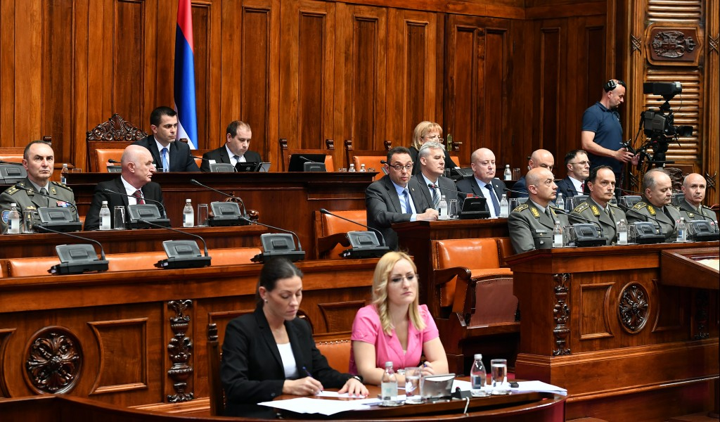 Serbian Assembly discusses the set of laws on defence