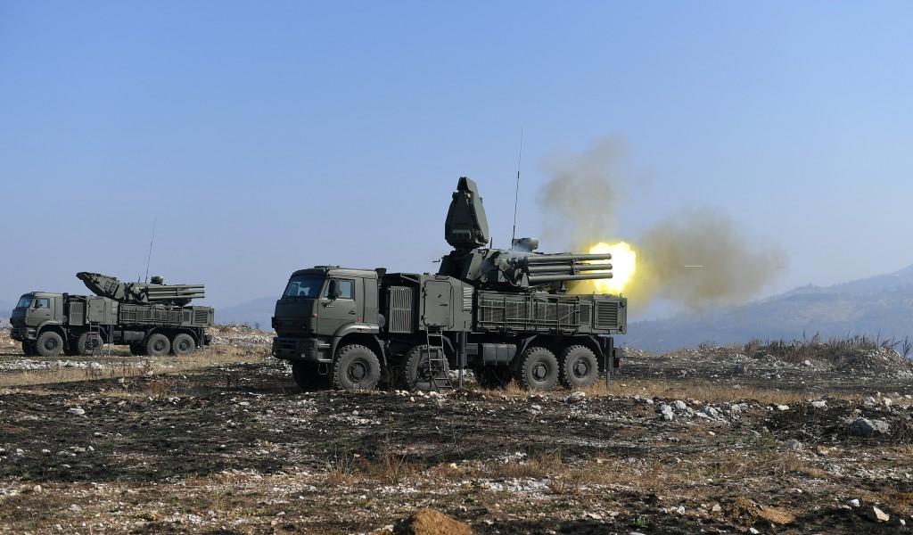 Shooting from combat assets Pantsir S1 viz SA 22 Grayhound during the Slavonic Shield 2019 Exercise