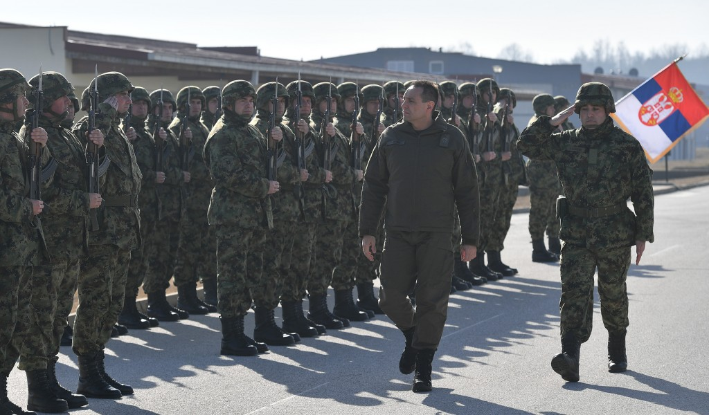 Minister Vulin visited the best Battalion of the Land Forces