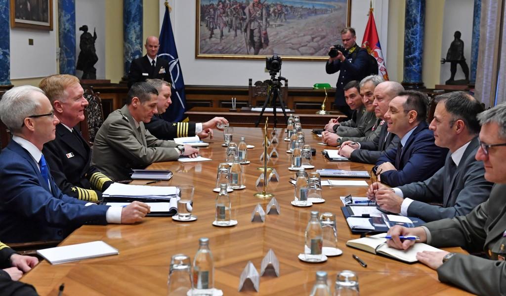 Састанак министра Вулина и адмирала Џејмса Фога
