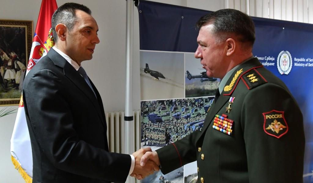 Састанак министра Вулина са командантом Западног војног округа генералом Журовљевим