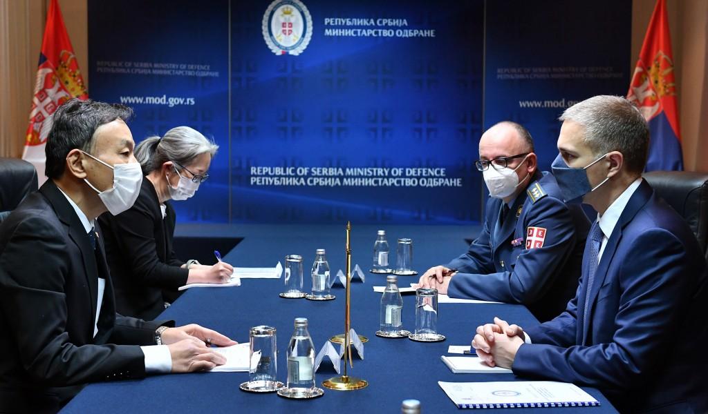 Састанак министра Стефановића са амбасадором Јапана Кацуматом