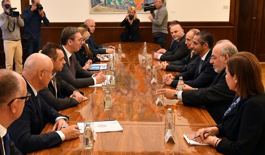 Sastanak predsednika Vučića sa ministrom odbrane Republike Kipar