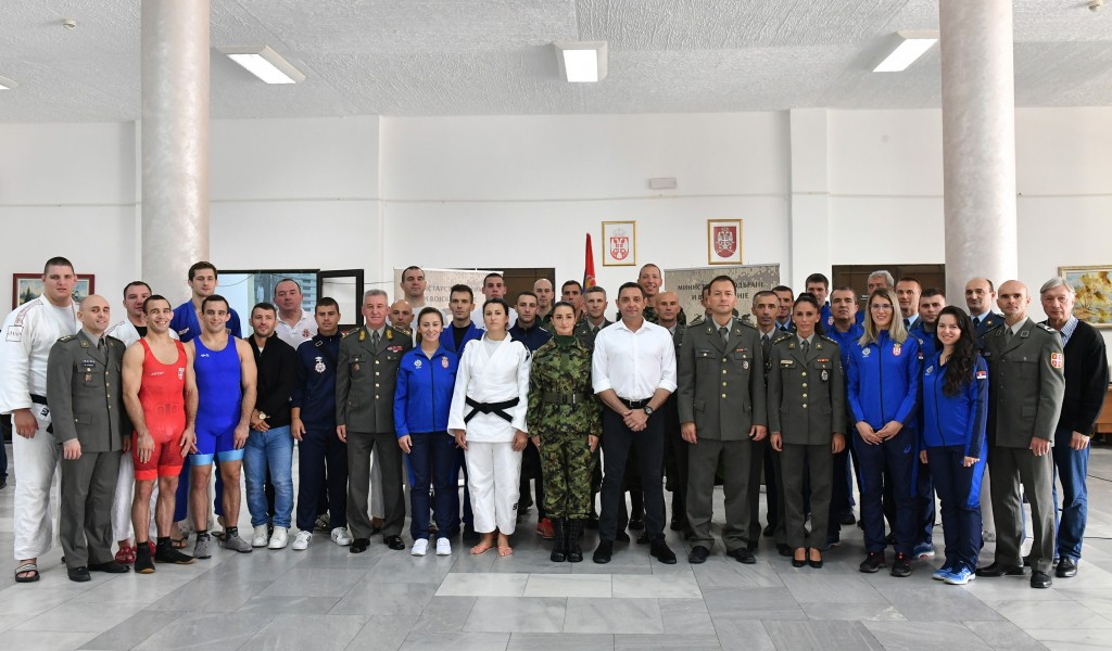Minister of Defense visited military athletes final preparations ahead of the Military World Games