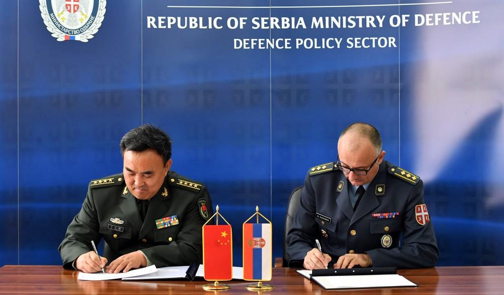 Потписан План билатералне војне сарадње са Кином