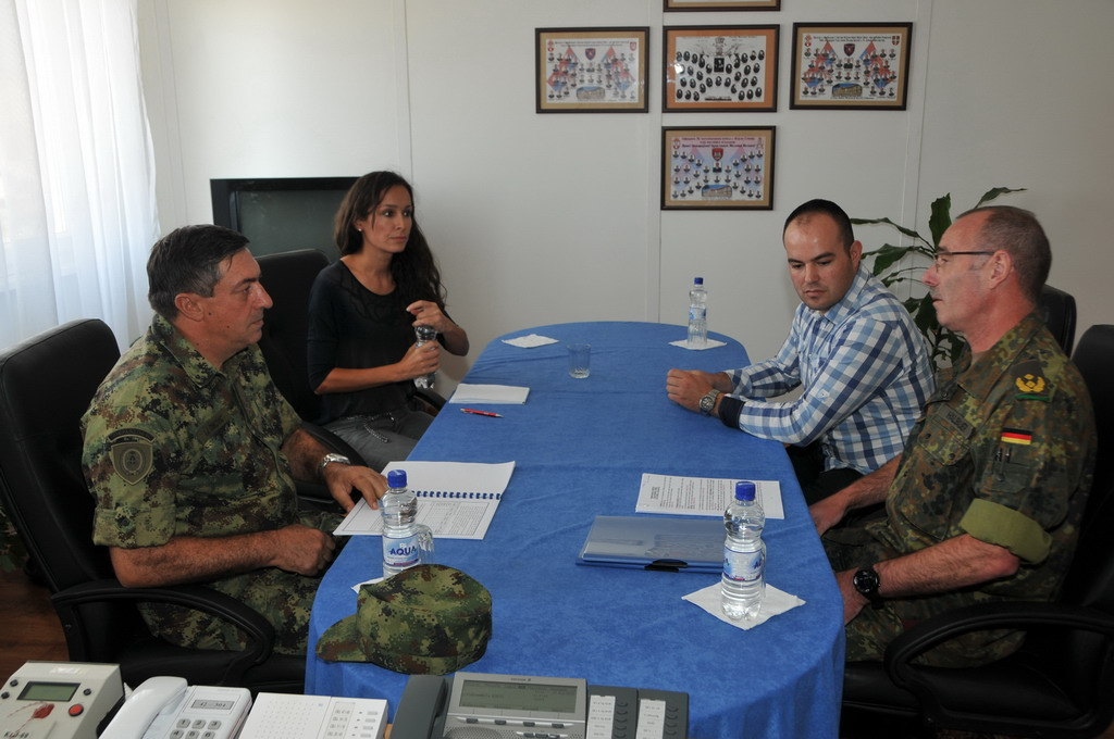 Serbian Armed Forces Chief of General Staff meets KFOR Commander