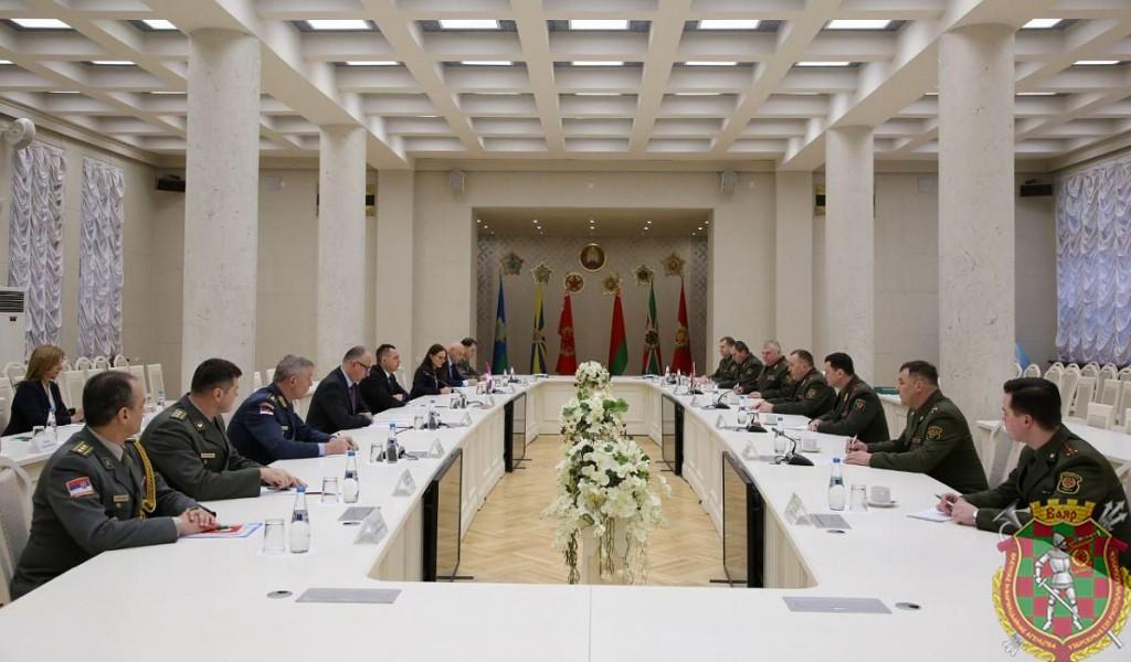 Sastanak ministra Vulina i ministra odbrane Belorusije generala Hrenina