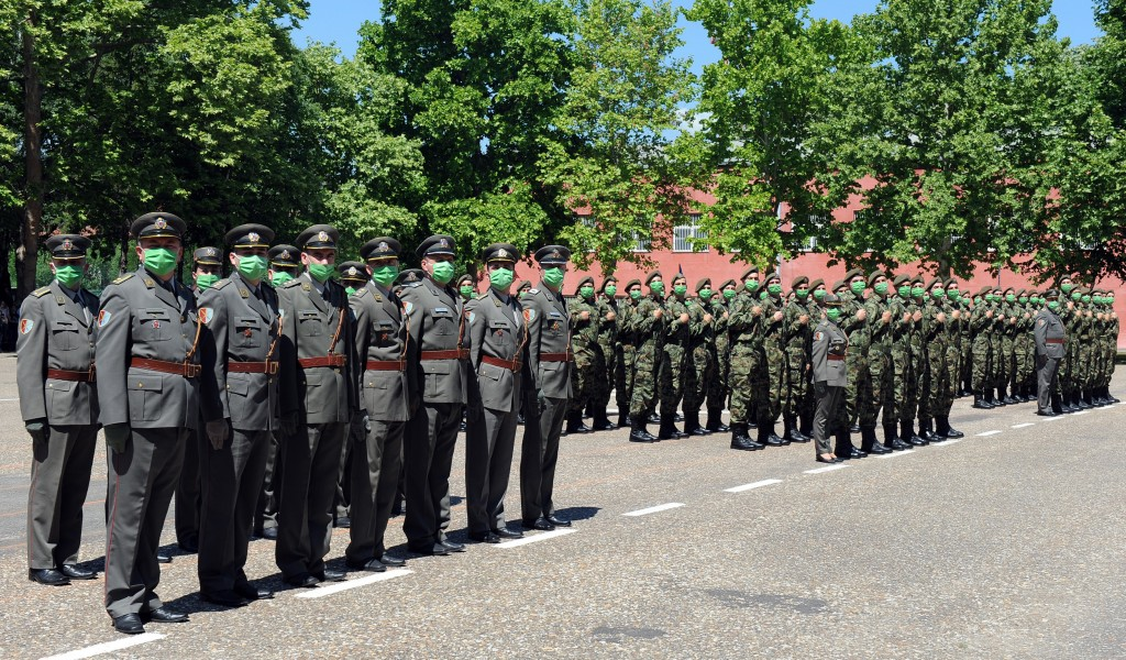 Soldiers of the June 2020 generation take the Oath of Enlistment