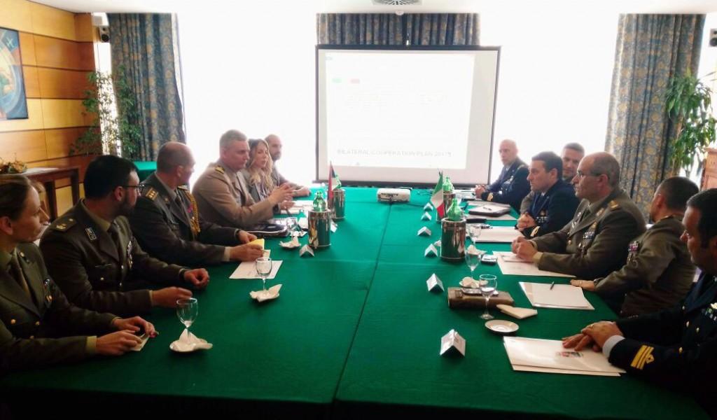 Intenziviranje saradnje u oblasti odbrane sa Italijom