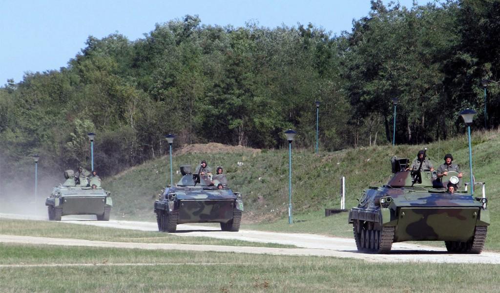 Вежбе с бојевим гађањима резервиста Прве бригаде