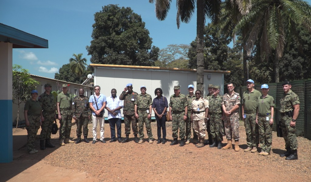 Chief of General Staff visits our peacekeepers in the Central African Republic