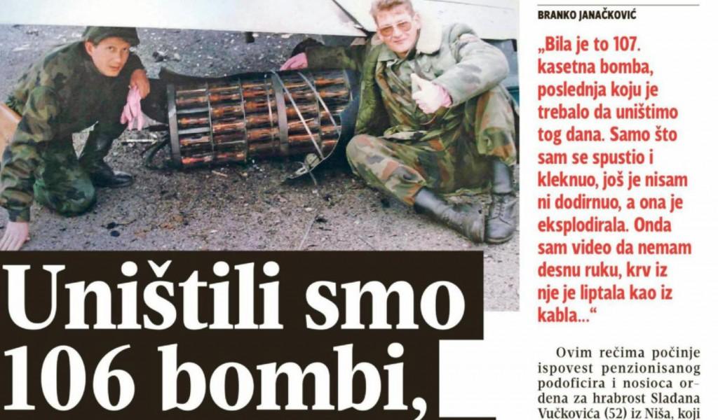 Uništili smo 106 bombi ekspolodirala je 107
