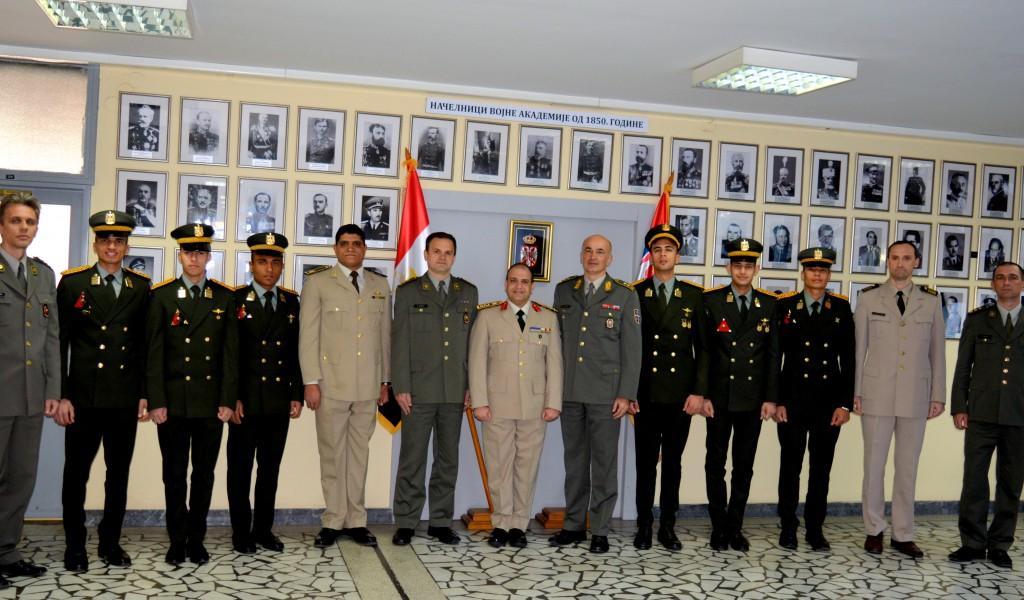 Посета делегације Војнотехничког колеџа оружаних снага АР Египта Војној академији