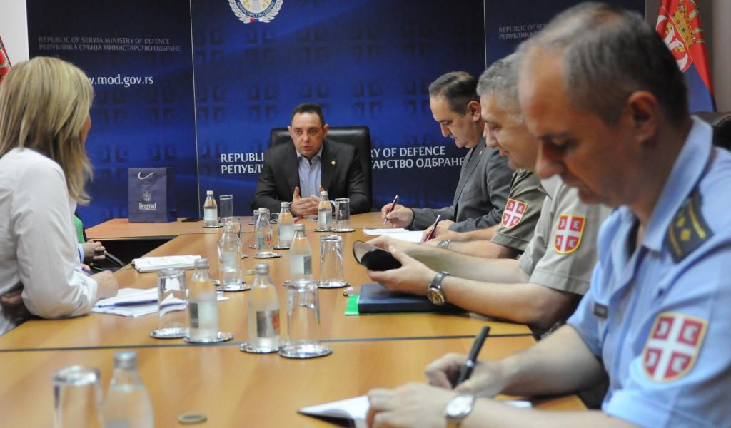 Minister Vulin meets with Belgrade Mayor