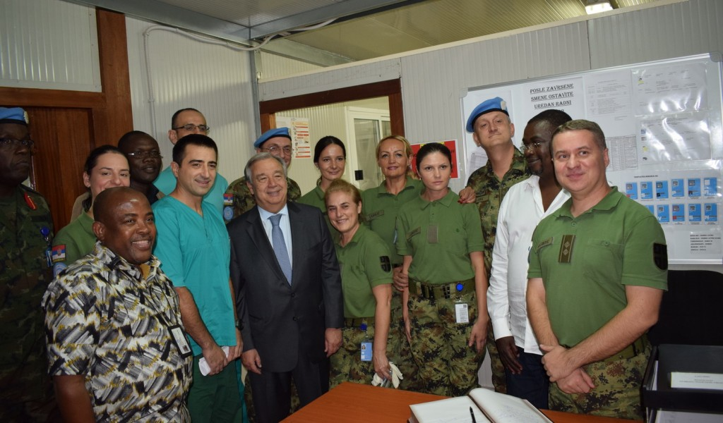 The UN Secretary General visited the Serbian military hospital in Bangui
