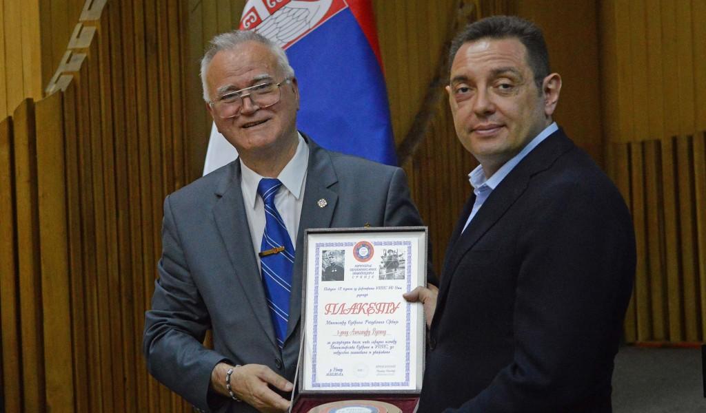 Vojni penzioneri dodelili najviše priznanje ministru Vulinu