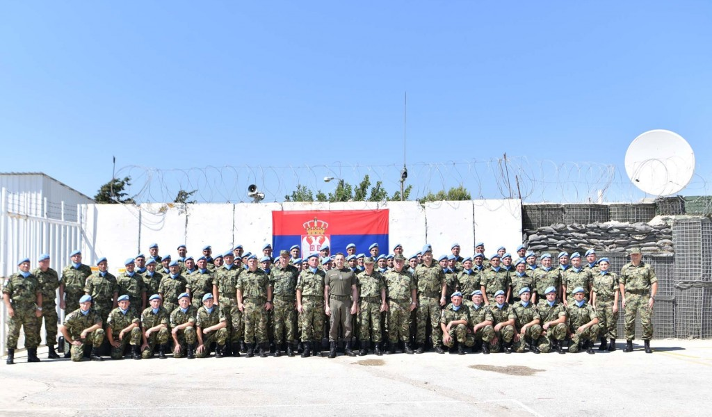 Visiting Serbian Peacekeepers in the South of Lebanon