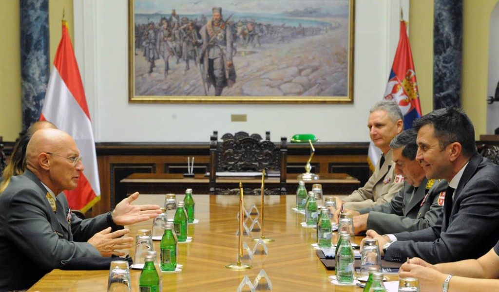 Састанак министра Ђорђевића и генерала Коменде