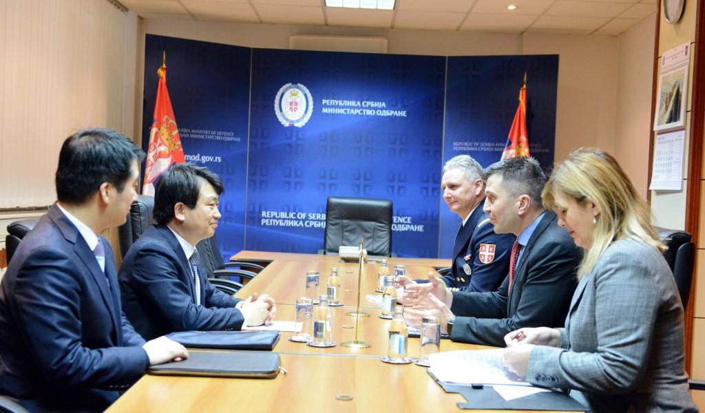 Састанак министра одбране са амбасадором Кореје