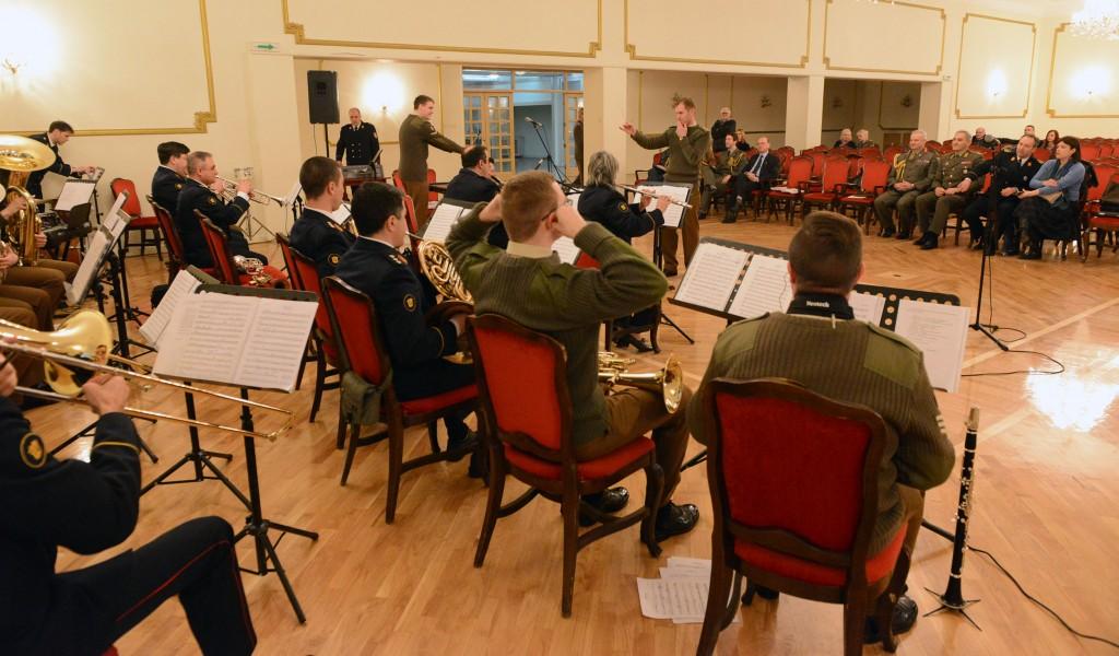 Одржана проба пред концерт војних оркестара Србије и Велике Британије