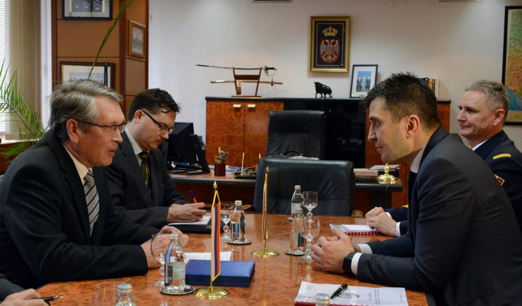 Meeting of the Minister of Defence with the Russian Ambassador