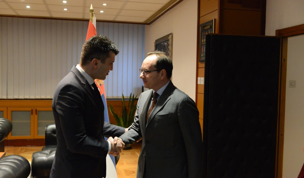 Meeting of the Minister of Defence with the Ambassador of Italy