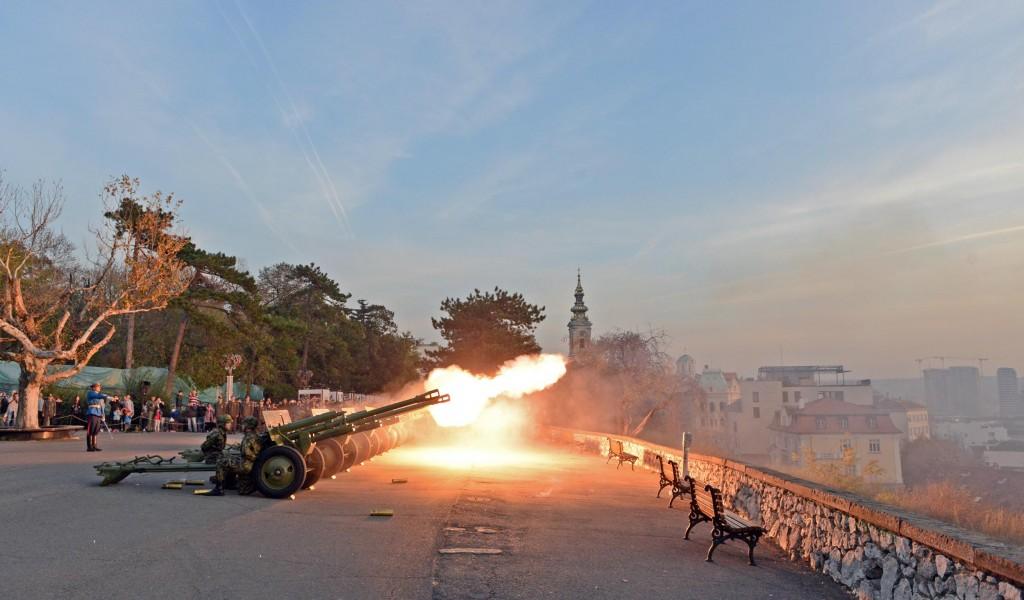 Почасна паљба поводом Дана примирја