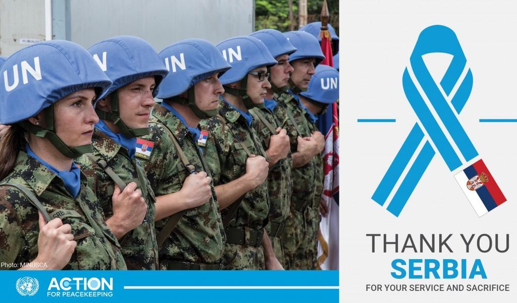 УН захвалне Србији за допринос миру у свету