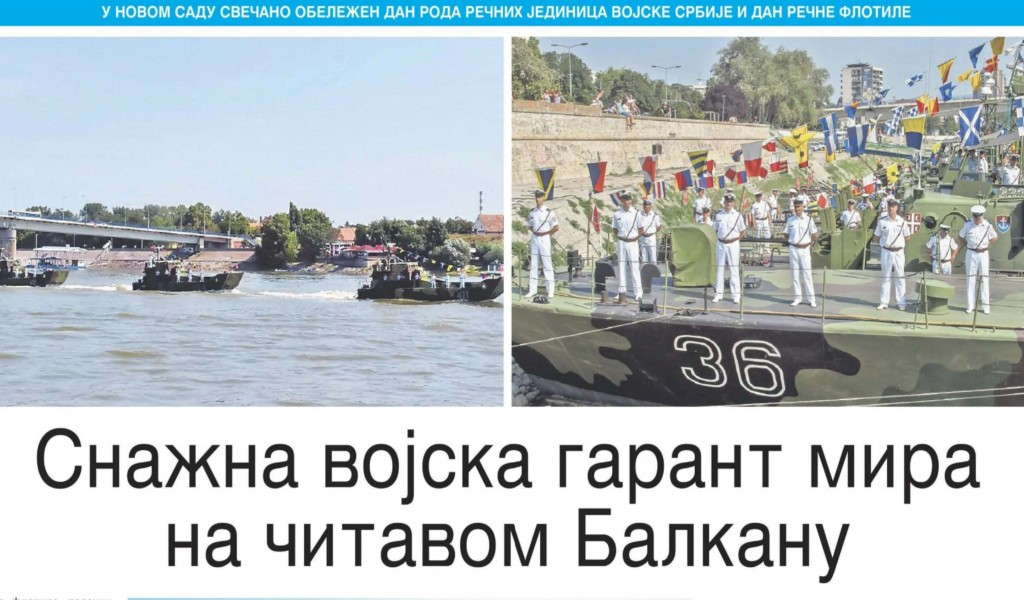 Snažna vojska garant mir na čitavom Balkanu