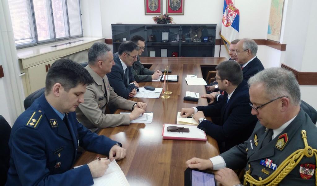 Разговори са делегацијом Савезног министарства одбране и спорта Аустрије