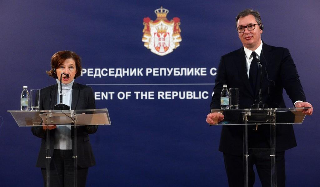 Sastanak predsednika Vučića sa ministarkom Vojske Republike Francuske
