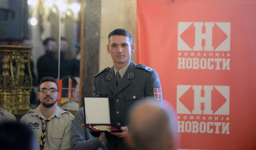 Stariji vodnik Ristić dobitnik priznanja Najplemenitiji podvig godine