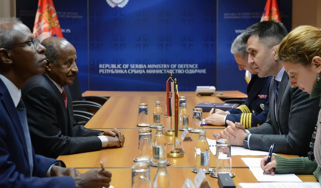 Министар Ђорђевић са министром спољних послова Еритреје
